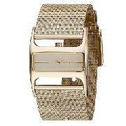 DKNY Ladies' Gold-Plated Mesh Watch