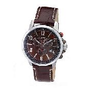 DKNY Men's Brown Leather Strap Watch