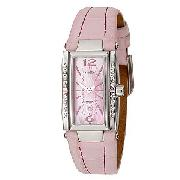 Ellesse Ladies' Pink Mother-Of-Pearl Stone-Set Watch
