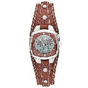 Fossil Ladies' Kaleido Leather Cuff Watch