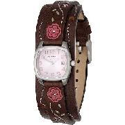 Fossil Ladies' Pink Dial Cuff Watch