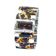 Fossil Ladie's Tortoise Bar Link Bracelet Watch