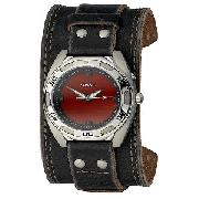 Fossil Men's Leather Cuff Watch
