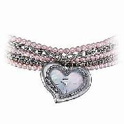 Guess Ladies' Heart Dial Fob Bracelet Watch
