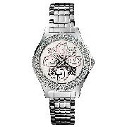 Guess Ladies' Round Dial, Stone-Set Bracelet Watch