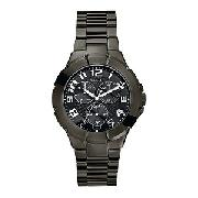 Guess Rush Men's Round Black Dial Bracelet Watch