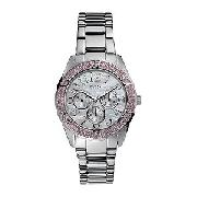 Guess Zippy Ladies' Mother of Pearl Bracelet Watch