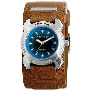 Kahuna Boy's Tan Leather Cuff Watch