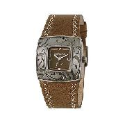 Kahuna Ladies' Brown Leather Strap Watch