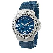 Kahuna Men's Blue Dial Velcro Strap Watch