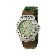 Kahuna Men's Green Dial Velcro Strap Watch
