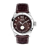 Marc Ecko Duke Men's Brown Crocodile Strap Watch
