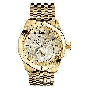 Marc Ecko Duke Men's Gold Plated Bracelet Watch