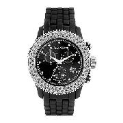 Marc Ecko Men's Multi-Functional Dial Black Strap Watch