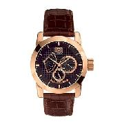 Marc Ecko Old Money Men's Brown Strap Watch