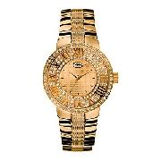 Marc Ecko the Deca Men's Gold-Plated Bracelet Watch