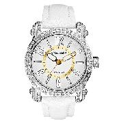 Marc Ecko the Niche Men's White Leather Strap Watch