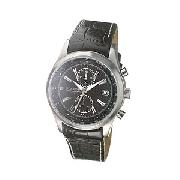 Police Men's Round Grey Dial and Black Strap Watch