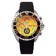 Police Men's Yellow Dial Chronograph Watch