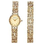 Rotary Ladies' Gold-Plated Watch and Matching Bracelet