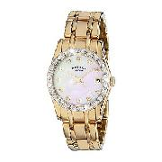 Rotary Ladies' Rocks Gold-Plated Diamond-Set Watch