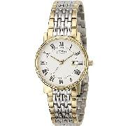 Rotary Men's Round Dial Bi-Colour Bracelet Watch