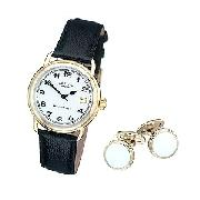 Rotary Men's Watch and Cufflink Set