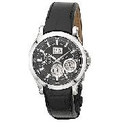 Seiko Men's Premier Kinetic Leather Strap Watch