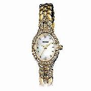 Sekonda Ladies' Gold-Plated Mother-Of-Pearl Bracelet Watch