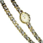 Sekonda Ladies' Gold-Plated Stone-Set Watch and Braclet Set