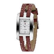 Tommy Hilfiger Ladies' Brown Leather Strap Watch
