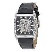Accurist Men's Leather Strap Watch
