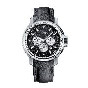 Boss Men's Chronograph Black Leather Strap Watch