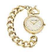 Burberry Ladies' Gold-Plated Chain Watch