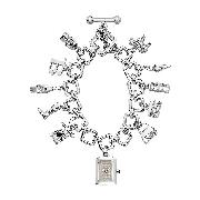 Burberry Ladies' Sterling Silver Charm Watch