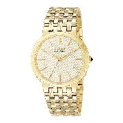 Citizen Eco-Drive 180 Men's Gold-Plated Bracelet Watch