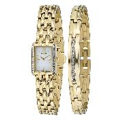 Citizen Eco-Drive Ladies' Crystal-Set Watch and Bracelet