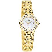 Citizen Lucca Eco-Drive Gold-Plated Diamond Watch