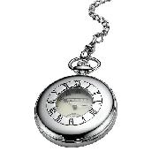 Dalvey Half Hunter Stainless Steel Mechanical Pocket Watch