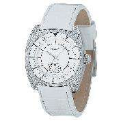 DKNY Exclusive Ladies' Swarvoski Crystal Leather Strap Watch