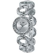 DKNY Ladies' Stainless Steel Swarovski Crystal Bangle Watch