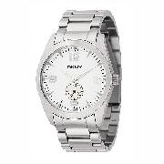 DKNY Men's Stainless Steel White Dial Bracelet Watch