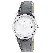 Dreyfuss and Co Ladies' Black Leather Strap Watch