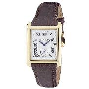 Dreyfuss and Co Men's 18ct Gold Brown Leather Strap Watch