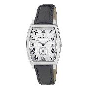 Dreyfuss and Co Men's Black Leather Strap Watch