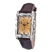 Emporio Armani Men's Brown Leather Strap Watch