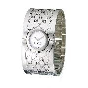 Gucci Twirl Ladies' Mother of Pearl Bangle Watch