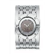 Gucci Twirl Ladies' Stainless Steel Brown Dial Watch