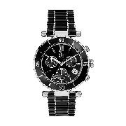 Guess Collection Ladies' Black Enamel Bracelet Watch