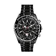 Guess Collection Men's Black Chronograph Bracelet Watch